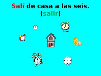 Spanish Teaching Resources. PowerPoint: -er & -ir Verbs Preterite.