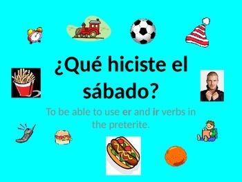 Spanish Teaching Resources. PowerPoint: -er & -ir Verbs Pr