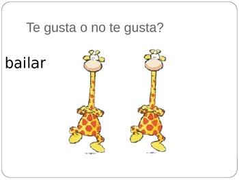 Spanish PowerPoint: Te Gusta o No Te Gusta