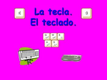 Spanish Teaching Resources. PowerPoint Presenting Computer Vocabulary.