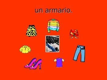 Spanish Teaching Resources. PowerPoint Presentation of Bedroom Furniture.