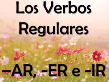 Spanish PowerPoint with AR, ER, & IR Regular Present Tense Verbs