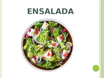 Spanish - Powerpoint - Lunch Food