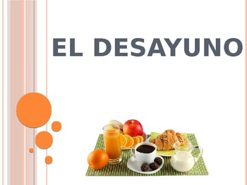 Spanish - Powerpoint - Breakfast Food