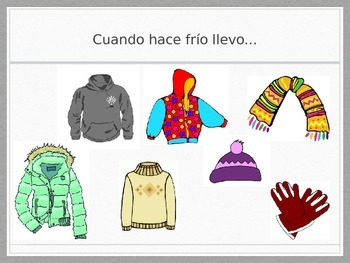 Spanish - Powerpoint - Clothes