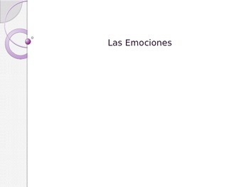 Spanish - Powerpoint - Emotions