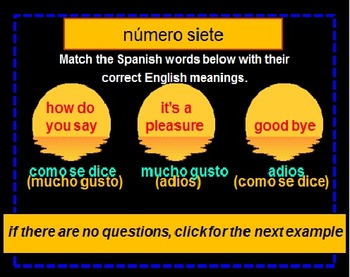 Spanish Powerpoint Lesson (Revised)