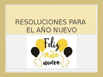 Spanish - Powerpoint - New Years Resolutions
