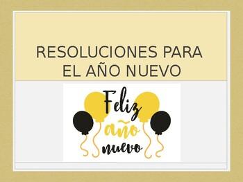Spanish - Powerpoint - New Years Resolutions