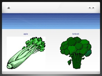 Spanish - Powerpoint - Vegetable Food