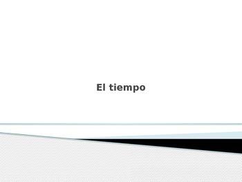 Spanish - Powerpoint - Weather