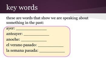 Spanish 2 Grammar Practice Packet: Preterite tense + Direct Object Pronouns