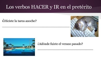 Spanish 2 Grammar Practice Packet: Preterite tense and Direct Object Pronouns