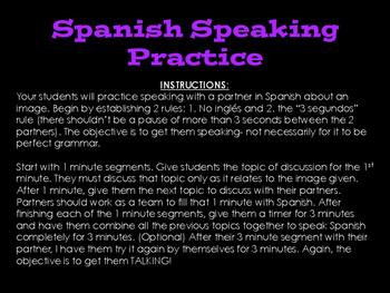 Spanish Practice Speaking Activity