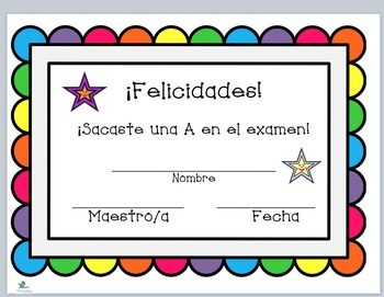 FREEBIE Spanish Praise Certificates & Bookmarks