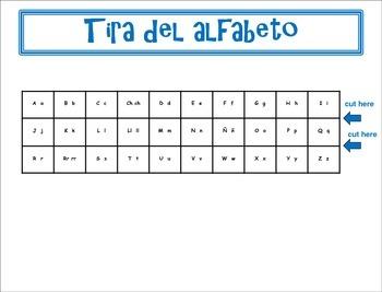 Spanish Práctica del alfabeto