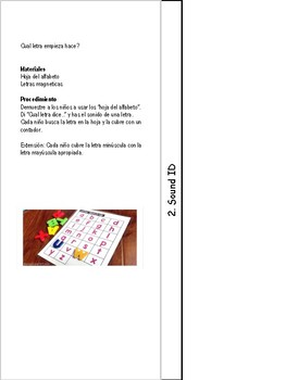 Spanish Pre-K Guided Reading Activities