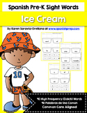 Spanish Sight Words Ice Cream (Pre-Primer)