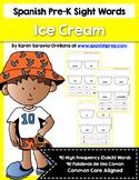 Spanish Sight Words Ice Cream (Pre-Primer)