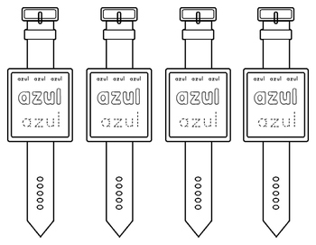 Spanish Sight Words Watches (Pre-Primer)