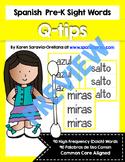 Spanish Sight Words Cotton Swab Printables (Pre-Primer)