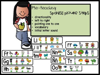 Spanish Pre-Reading Picture Strips