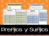Prefijos y Sufijos en Español