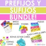 Spanish Prefix and Suffix BUNDLE - Prefijos y sufijos