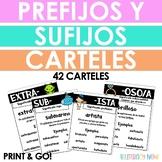 Spanish Prefix and Suffix Posters - Carteles de los prefijos y sufijos en color