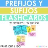 Spanish STAAR Reading Prefix Suffix 38 Flash Cards! Prefijos y Sufijos!