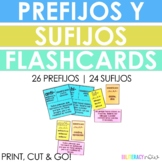 Spanish Prefix and Suffix Flash Cards - Los prefijos y sufijos