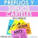 Spanish Prefixes and Suffixes Posters - Carteles de los prefijos y sufijos