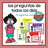 Spanish:  Preguntas de todos los dias: BOOM Cards: Digital Task Cards