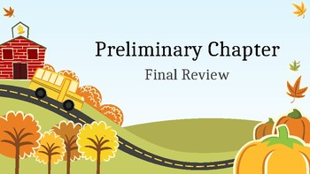 Spanish Preliminary Chapter Review