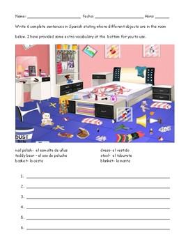 Spanish Preposition worksheet