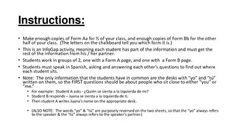 Spanish Prepositional Pronouns Infogap Activity