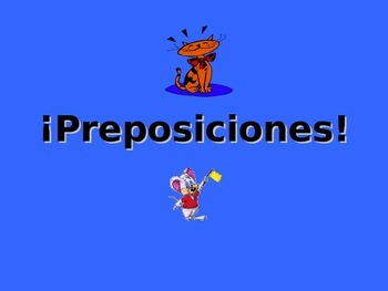 Spanish Teaching Resources. Prepositions