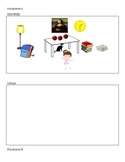 Spanish Prepositions Draw and Describe Activity