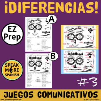 Spanish Prepositions Game Diferencias #3  Juego de Preposiciones en Español