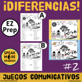 Spanish Prepositions Game Diferencias!  Juego de Preposiciones en Español
