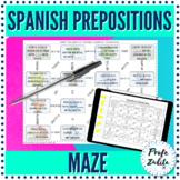 Spanish Prepositions   Grammar Maze   Digital & PDF