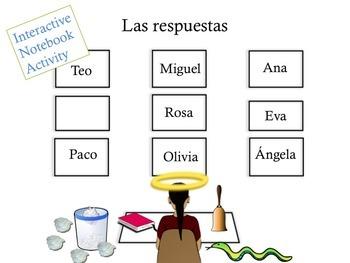 Spanish Prepositions Interactive Notebook Activity & Google Drive Activity