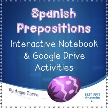Spanish Prepositions Interactive Notebook Activity & Googl