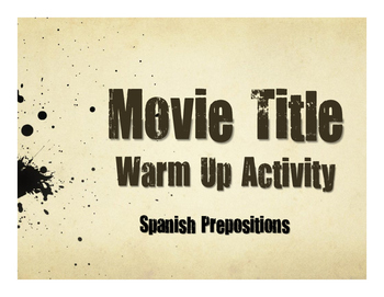 Spanish Prepositions Movie Titles