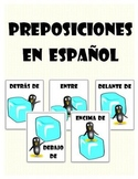 Spanish Prepositions Posters and Note Sheet