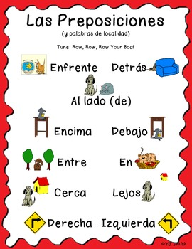 Prepositions of Place Cards – Printable Spanish