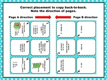 Spanish Prepositions Task Cards