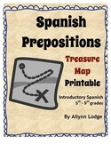 Spanish Prepositions Treasure Map Printable