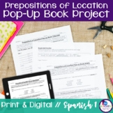 Spanish Prepositions of Location Pop-up Book Project