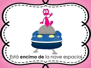 Spanish Prepositions of Place Posters
